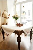 Скатертина столова Хранимира (Льон білий)