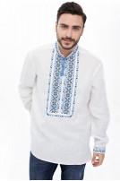 Сорочка чоловіча Мирослав (льон білий)