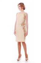 Сукня жіноча Рум'яна (льон костюмний молочний)