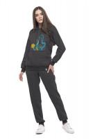 Жіночі штани (Футер з начісом темно-сірий)