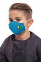 Маска захиcтна дитяча Діно (Льон синій)