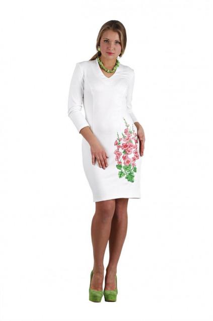 Сукня жіноча Мальва (джерсі світло-молочний)