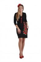 Сукня жіноча Маків цвіт (джерсі чорний)