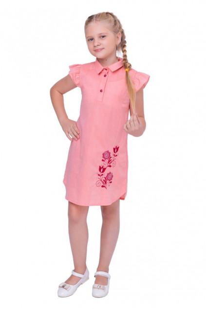 Сукня для дівчинки Агнія (Батист кораловий)