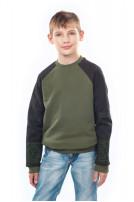 Світшот для хлопчика Вишезор (Футер з начісом хаки)