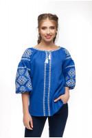 Блуза жіноча Світодара (льон синій)