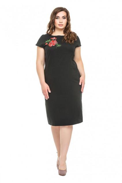Сукня жіноча Діана (льон-стрейч чорний)