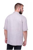 Сорочка чоловіча Добромисл (льон сірий)