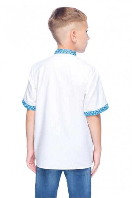 Сорочка для хлопчика Милодар (міткаль біла)