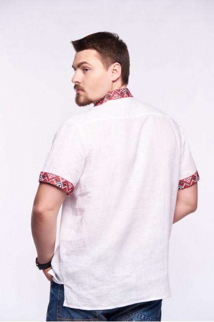 Сорочка чоловіча Світозар (льон білий)