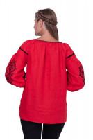 Блуза жіноча Леда (льон червоний)