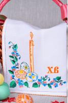 Доріжка вишита Писанка (Домоткане полотно білий)