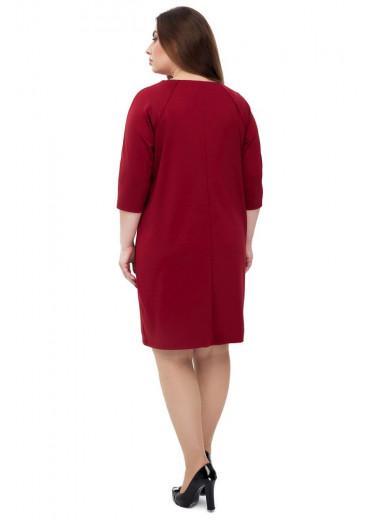 Сукня жіноча Горобина (джерсі бордовий)