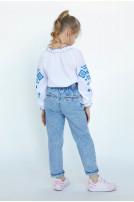 Блуза для дівчинки Гуцулочка (сорочкова біла)
