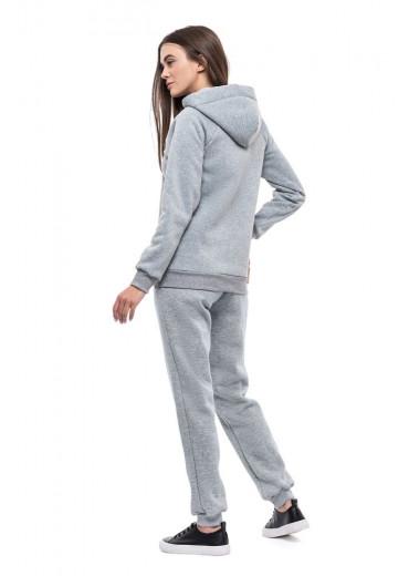 Жіночі штани (Футер з начісом світло-сірий)