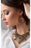 Сережки Солнцеколо бронза рубін