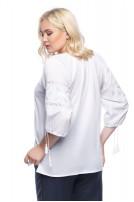 Блуза жіноча Білослава (батист білий)