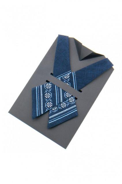 Крос краватка з вишивкою жіноча (873)