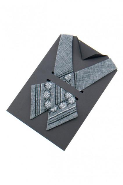 Крос краватка з вишивкою жіноча (874)