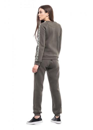 Жіночі штани (Футер з начісом хаки)