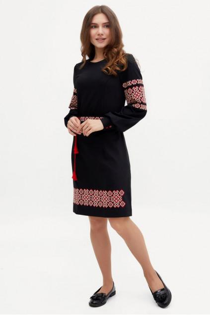 Сукня жіноча Маланка (костюмна-стрейч чорна)