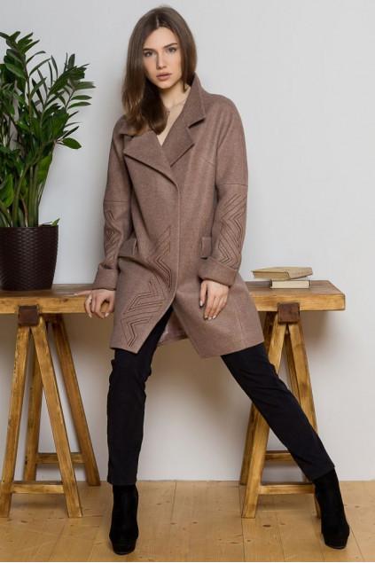 Пальто жіноче Sophie (Пальтова тканина Валенсія кемел)