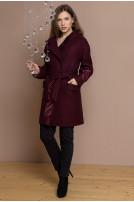 Пальто жіноче Sophie (Пальтова тканина Валенсія бордовий)