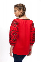 Блуза жіноча Світодара (льон червоний)