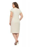 Сукня жіноча Діана (льон-стрейч бежевий)
