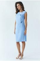 Сукня жіноча Східна квітка (Льон блакитний)