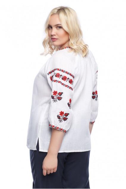 Блуза жіноча Орина (льон білий)