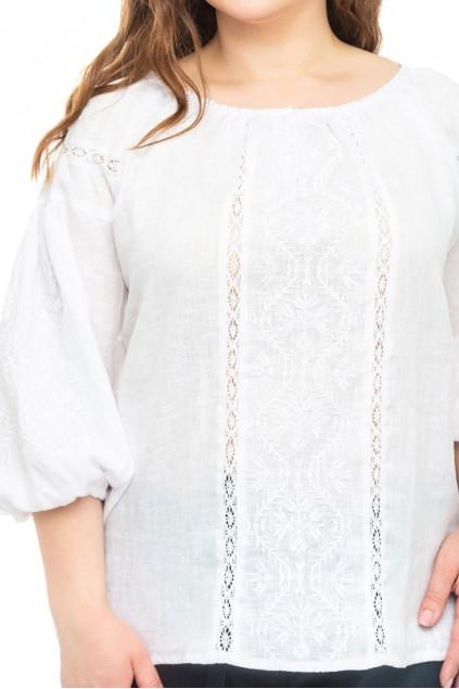 Блуза жіноча Леда (льон білий)