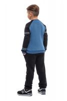 Світшот для хлопчика Вишезор (Футер з начісом синій)