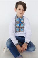Сорочка для хлопчика Волошки (сорочкова біла)