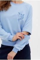 Світшот жіночий  Гілочка (футер блакитний)
