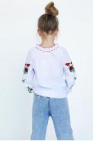 Блуза для дівчинки  Макова роса (Сорочкова біла)