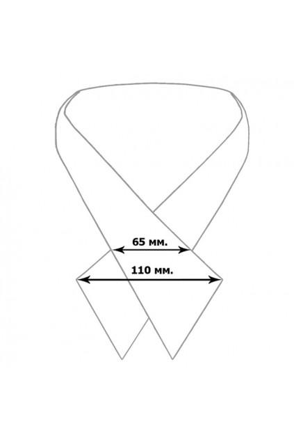 Крос краватка з вишивкою жіноча (872)