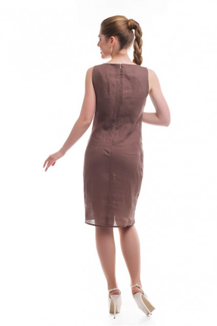 Сукня жіноча Ромашкове поле (Льон коричневий)