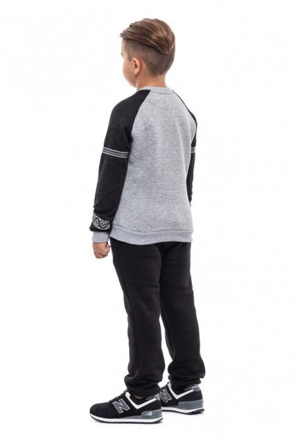 Світшот для хлопчика Вишезор (Футер з начісом сірий)