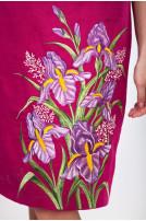 Сукня жіноча Іриси (льон фуксія)