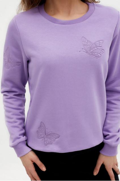 Світшот жіночий Метелики (Футер бузковий)