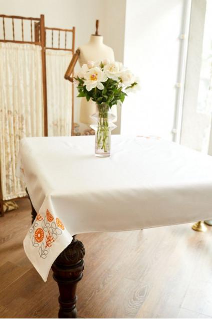 Скатертина столова Hugge (Льон білий)