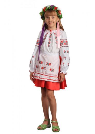 Фартух дитячий Троянда (сорочкова біла)