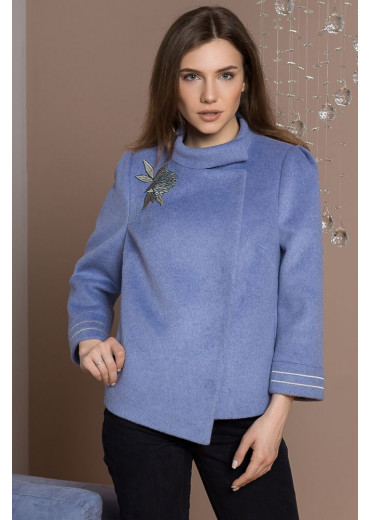 Пальто жіноче Julia (Пальтова ворсовка блакитний)