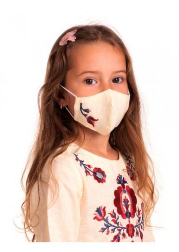 Захистна маска лляна дитяча (6006) (Льон вершковий)