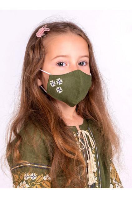 Захистна маска лляна дитяча (6011/2) (Льон хакі)