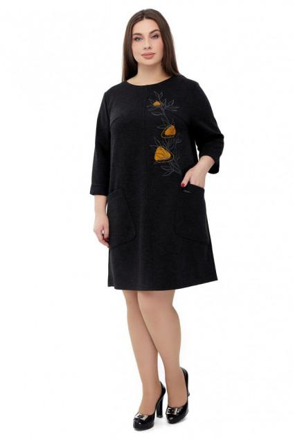 Сукня жіноча Світанок (Трикотаж костюмний чорний)