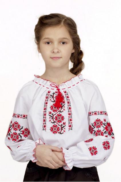 Блуза для дівчинки Устина (сорочкова біла)