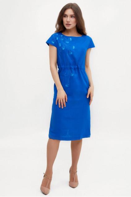 Сукня жіноча Веліна (Льон індіго)