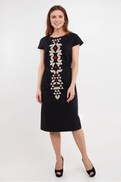 Сукня жіноча Єсенія (льон-стрейч чорний)